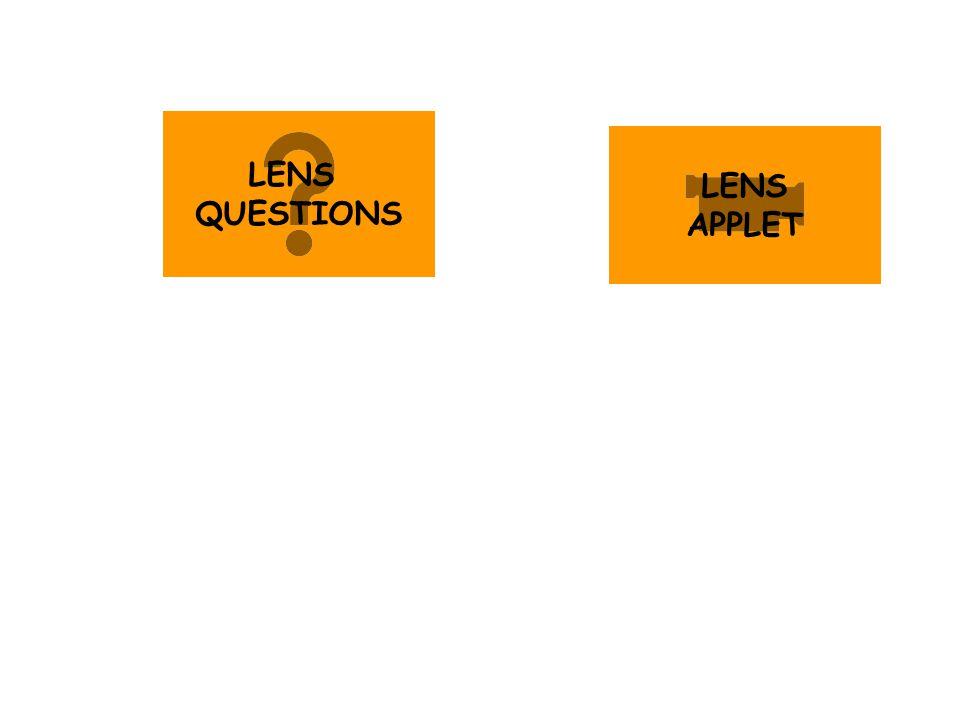 LENS QUESTIONS LENS APPLET
