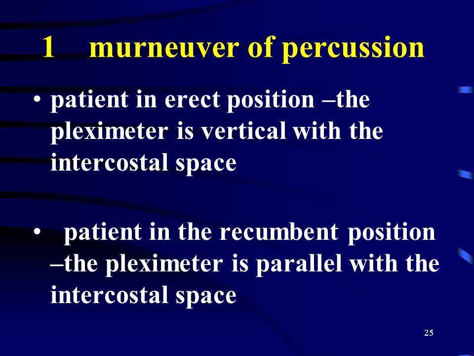 1 murneuver of percussion