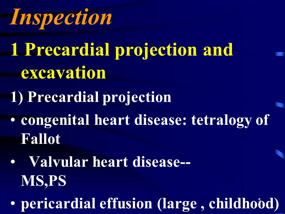 Inspection 1 Precardial projection and excavation