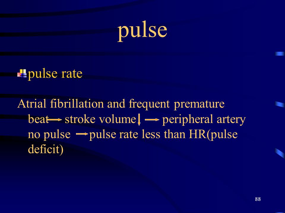 pulse pulse rate.