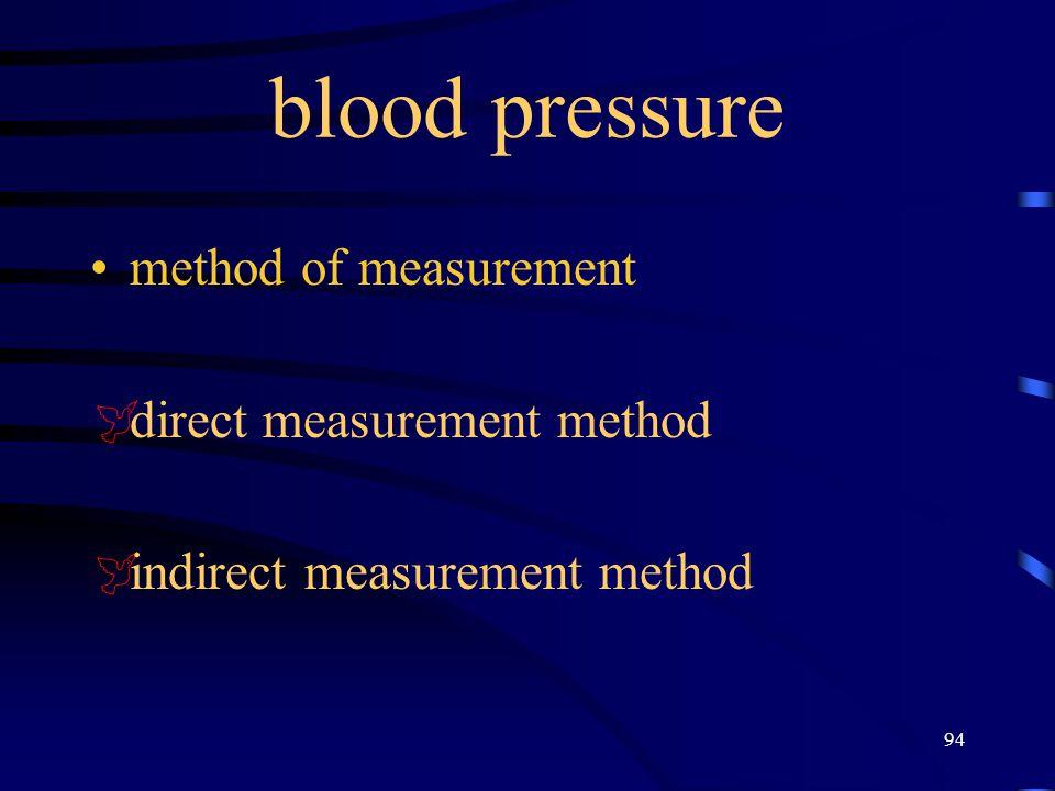 blood pressure method of measurement direct measurement method