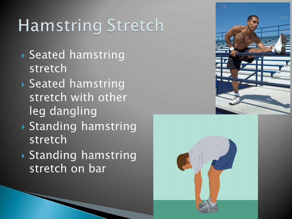 Hamstring Stretch Seated hamstring stretch