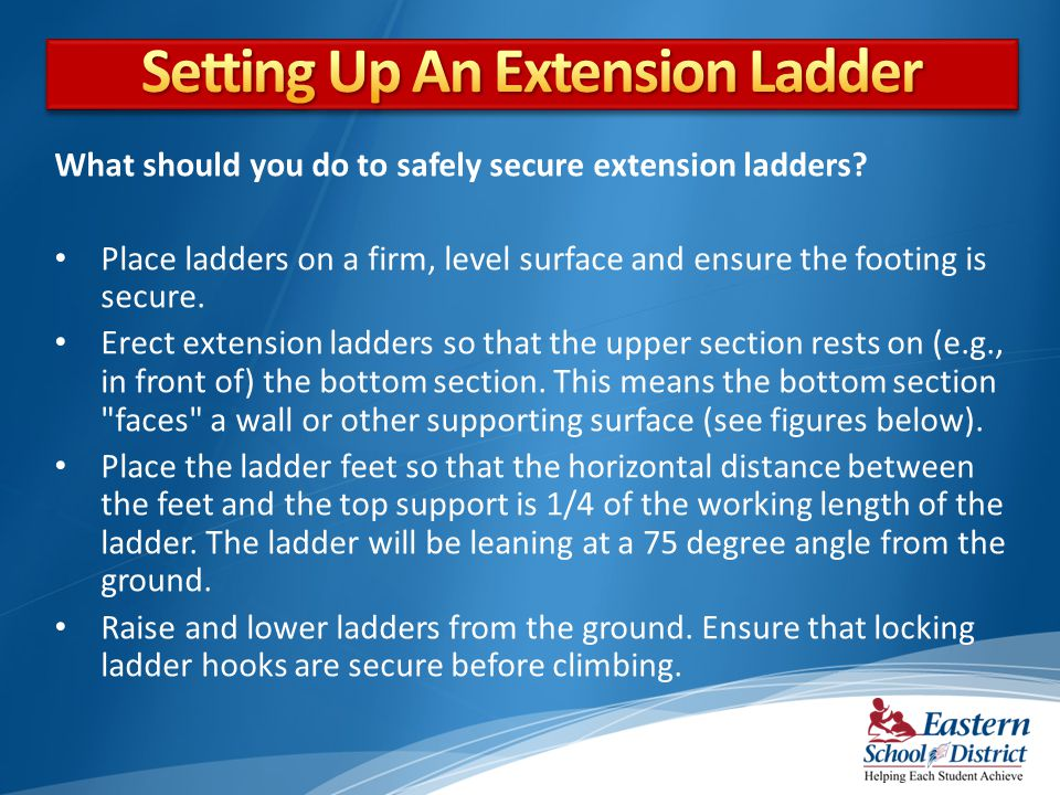 Setting Up An Extension Ladder