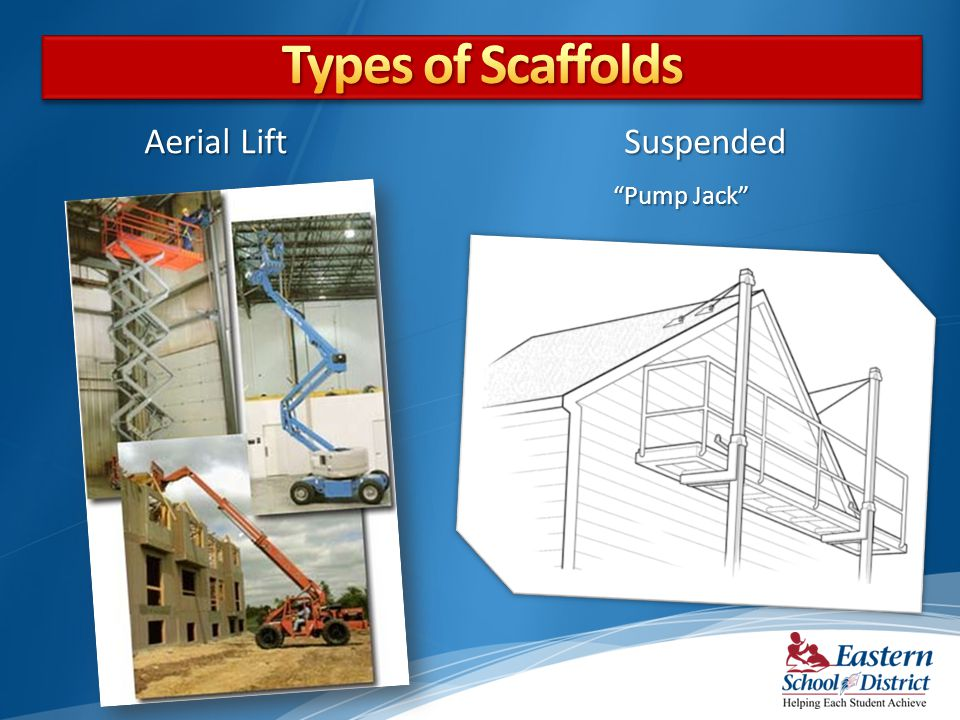 Types of Scaffolds Aerial Lift Suspended Pump Jack
