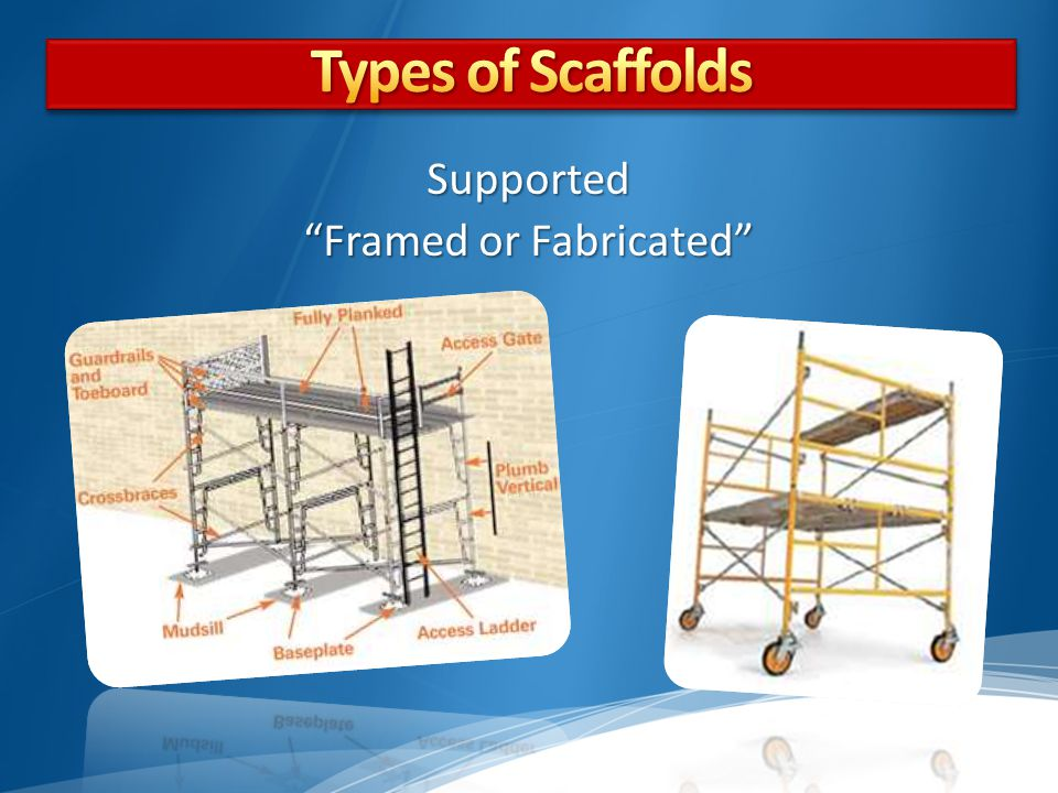 Supported Framed or Fabricated