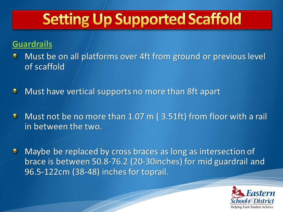 Setting Up Supported Scaffold