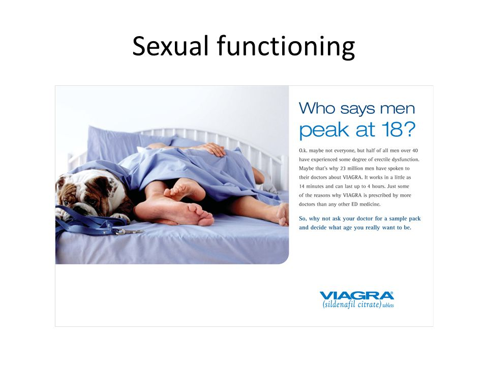 Sexual functioning viagra cialis levitra