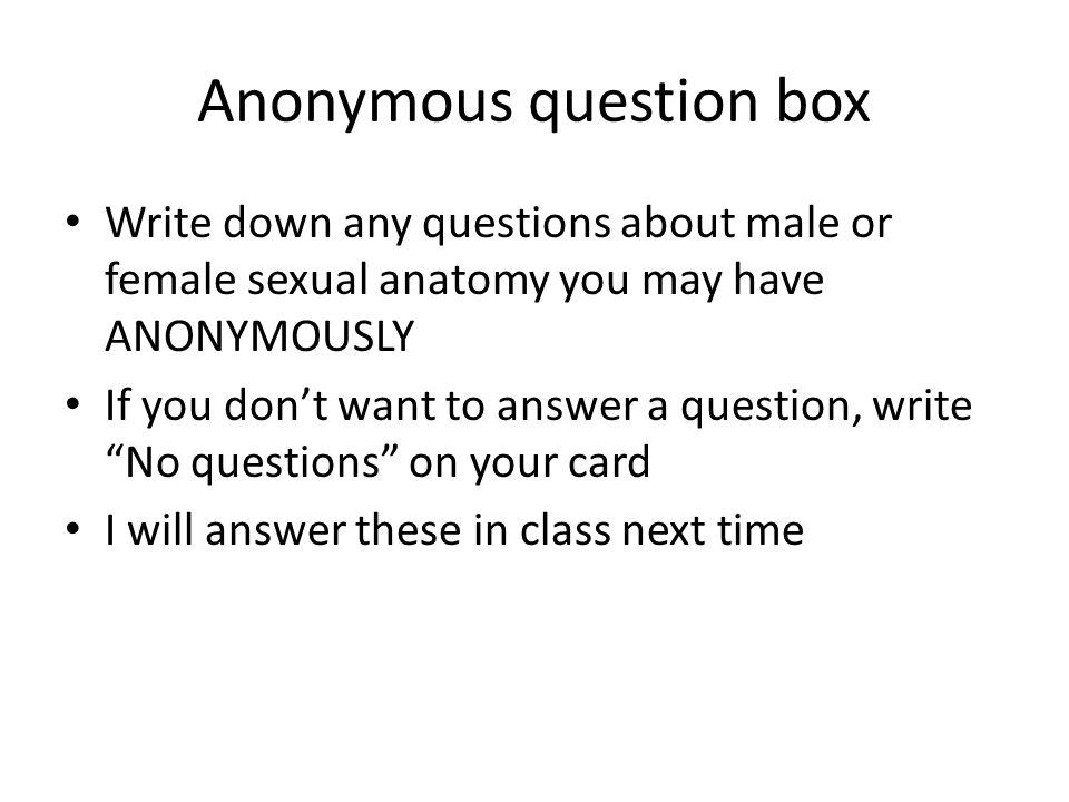 Anonymous question box