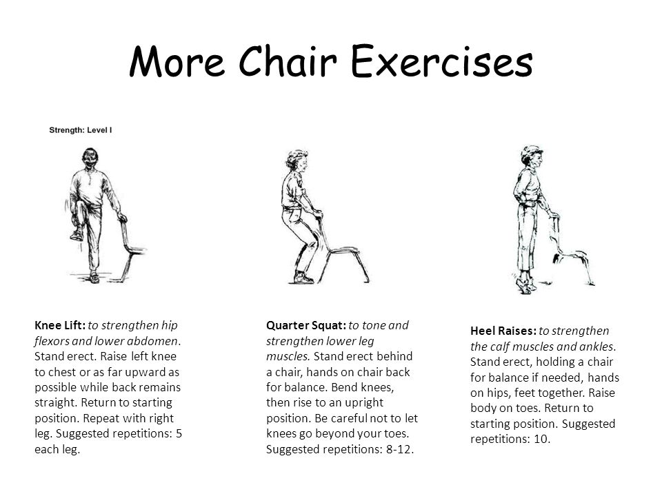 More Chair Exercises