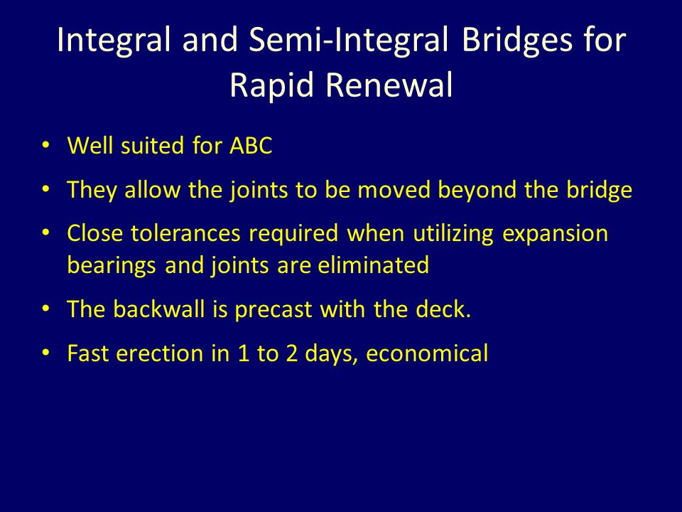 Integral and Semi-Integral Bridges for Rapid Renewal