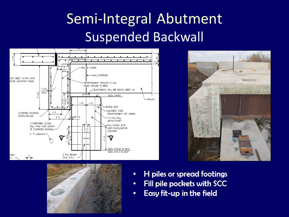 Semi-Integral Abutment Suspended Backwall