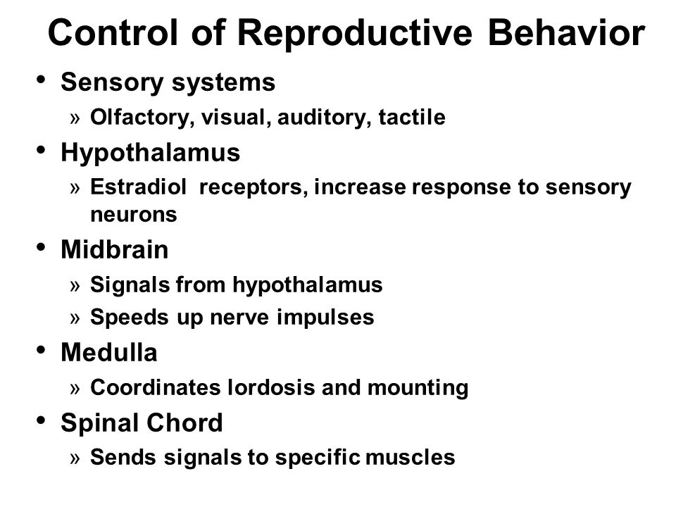 Control of Reproductive Behavior