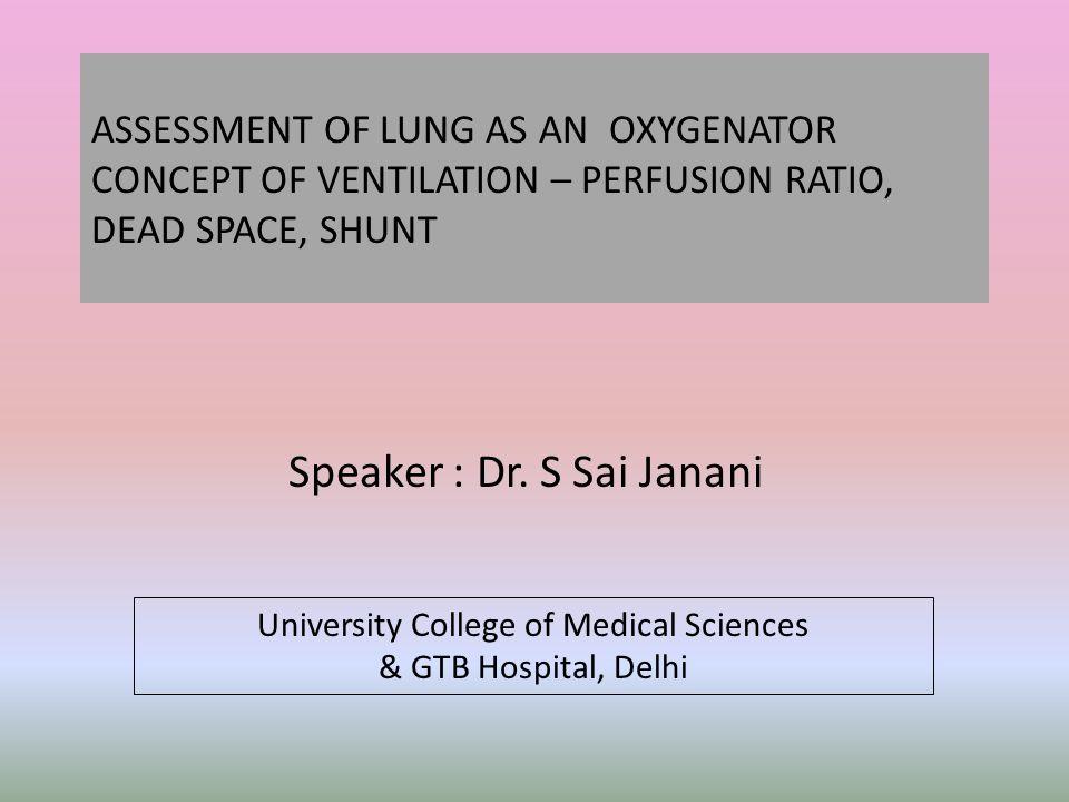 Speaker : Dr. S Sai Janani