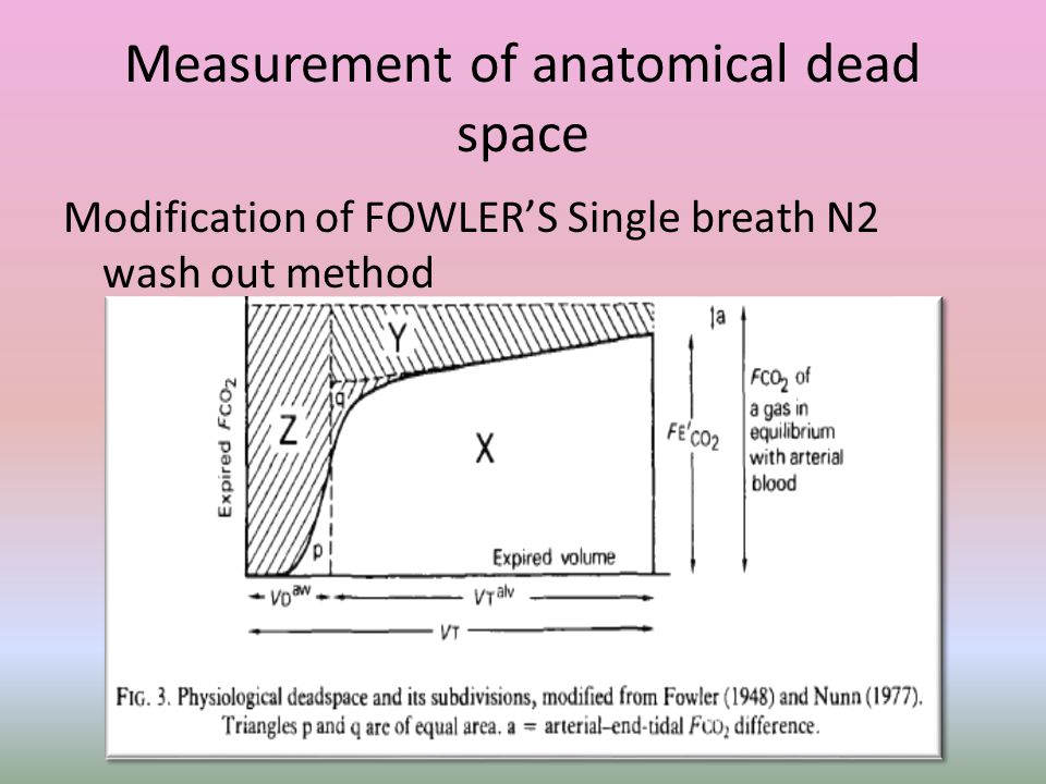 Measurement of anatomical dead space