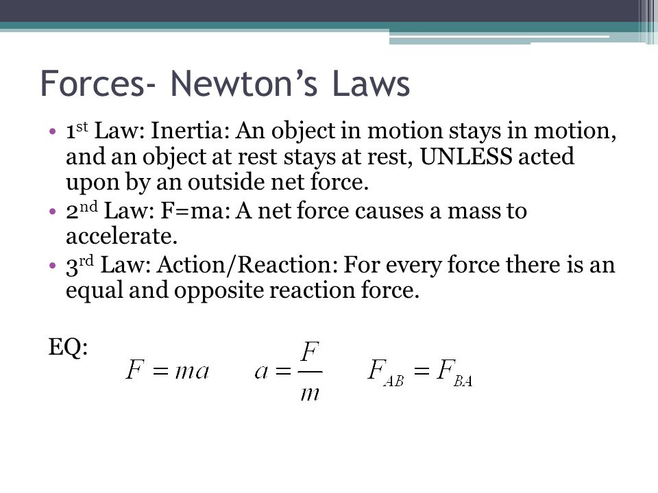 Forces- Newton's Laws