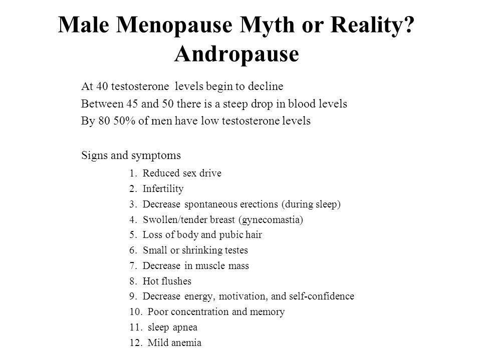 Male Menopause Myth or Reality Andropause