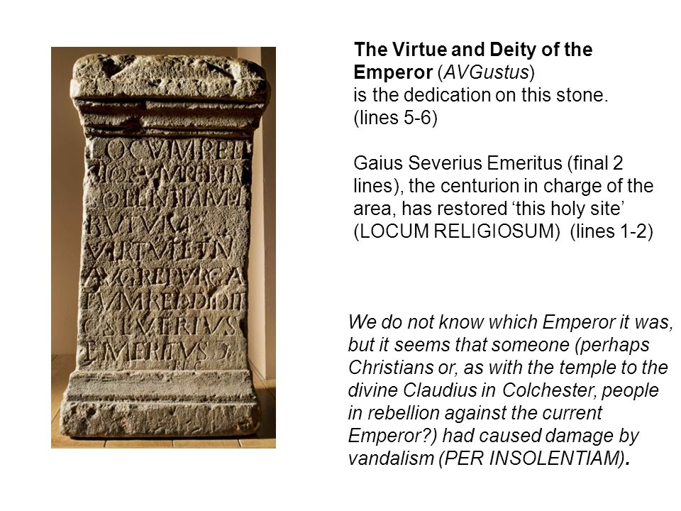 The Virtue and Deity of the Emperor (AVGustus)