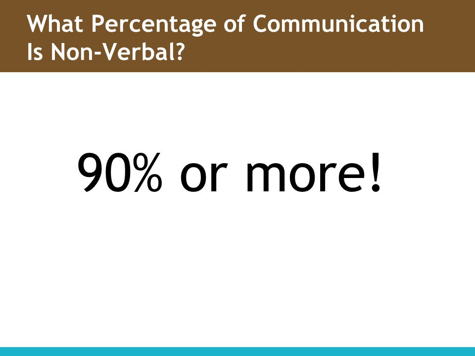 What Percentage of Communication Is Non-Verbal