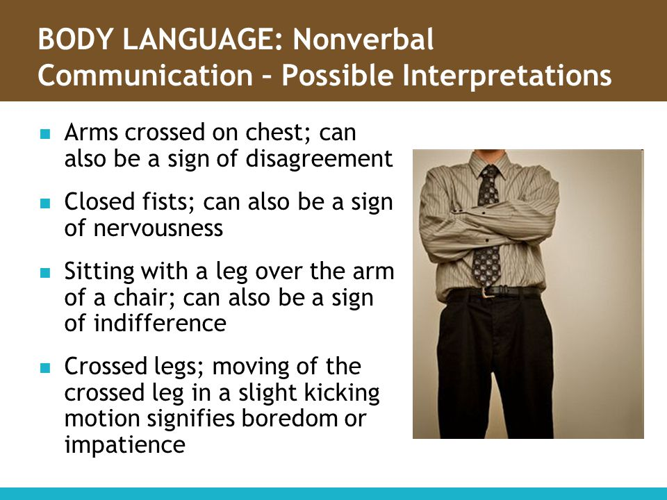BODY LANGUAGE: Nonverbal Communication – Possible Interpretations