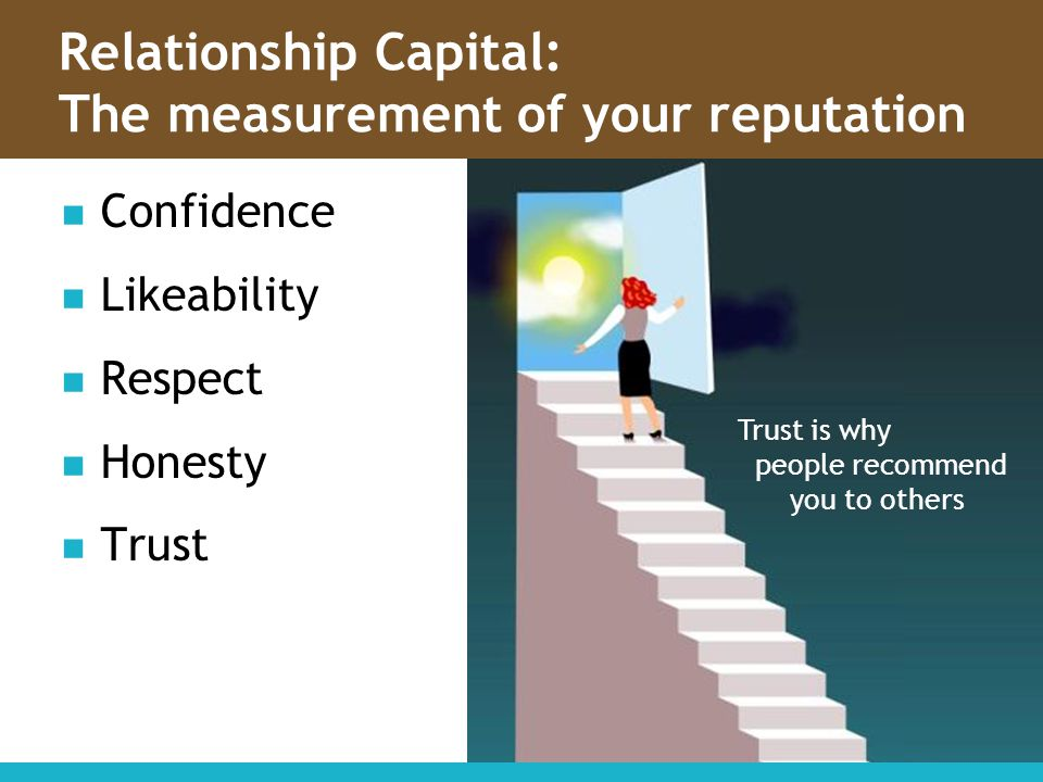 Relationship Capital: The measurement of your reputation