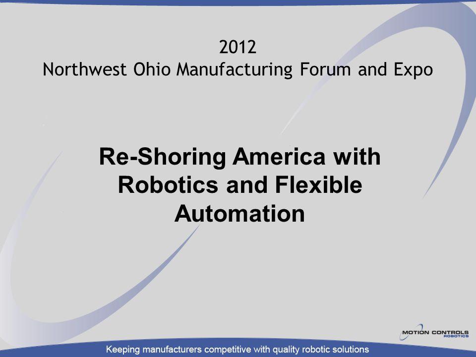 2012 Northwest Ohio Manufacturing Forum and Expo