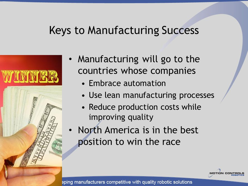 Keys to Manufacturing Success