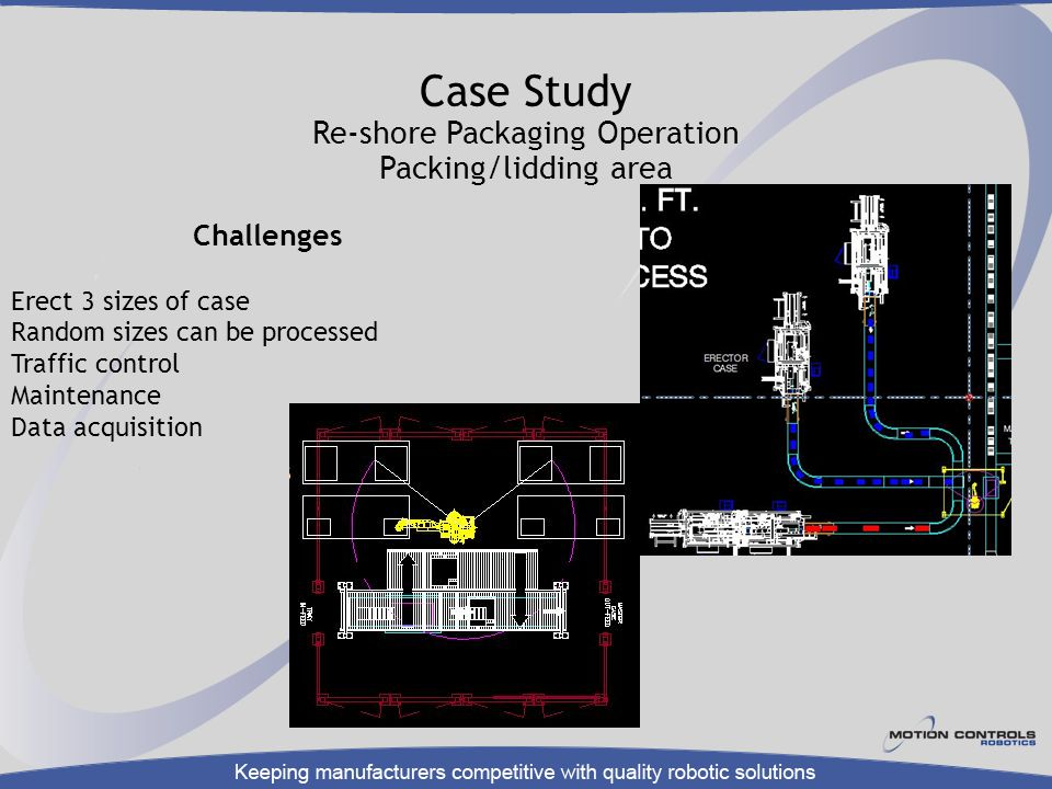 Case Study Re-shore Packaging Operation