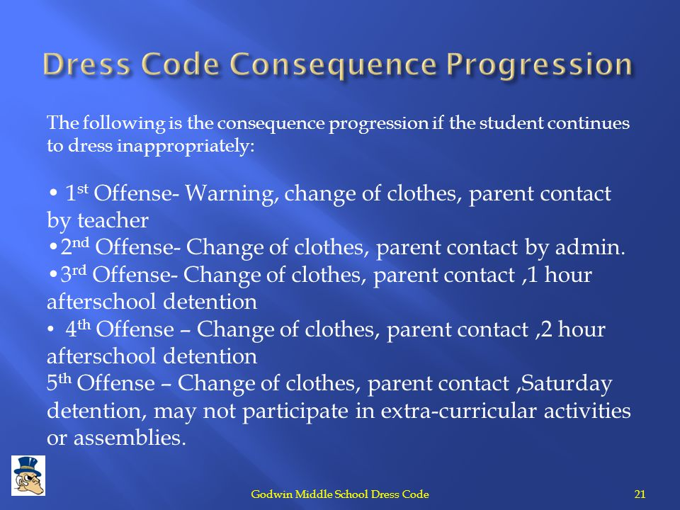 Dress Code Consequence Progression