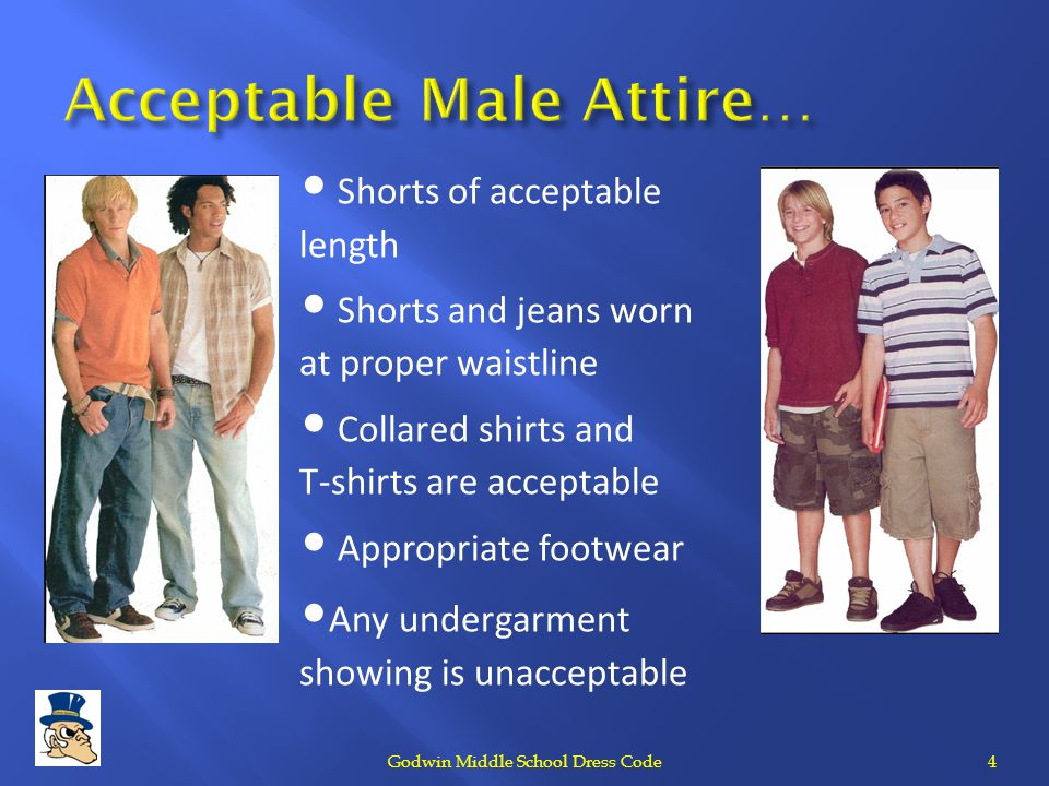 Acceptable Male Attire…