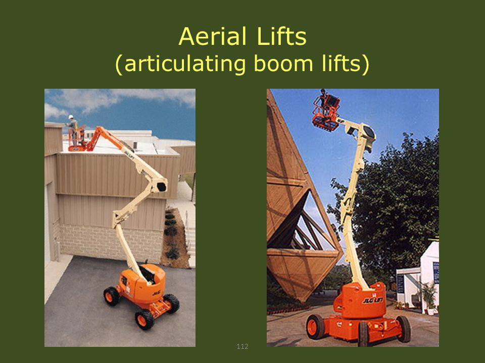 Aerial Lifts (articulating boom lifts)