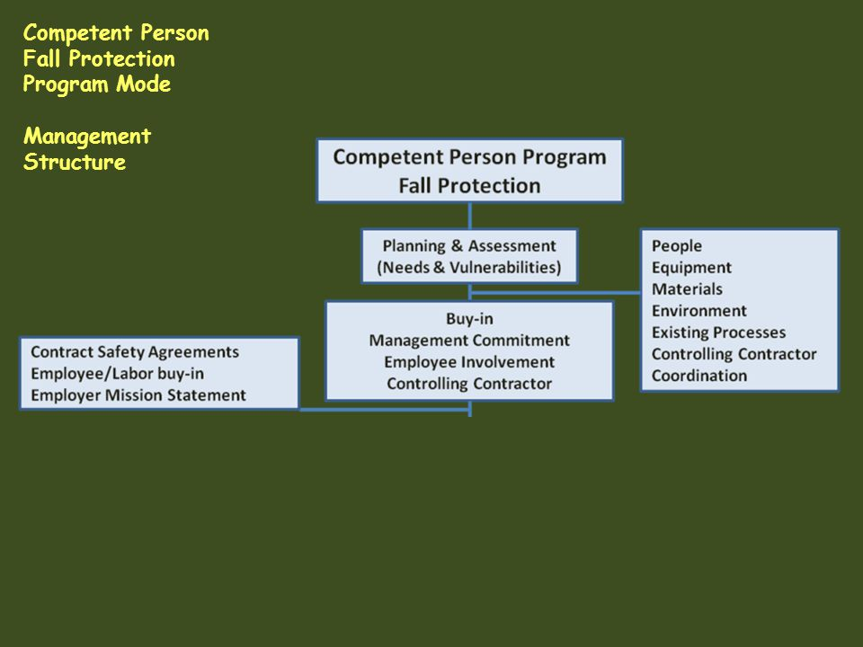 Competent Person Fall Protection Program Mode Management Structure