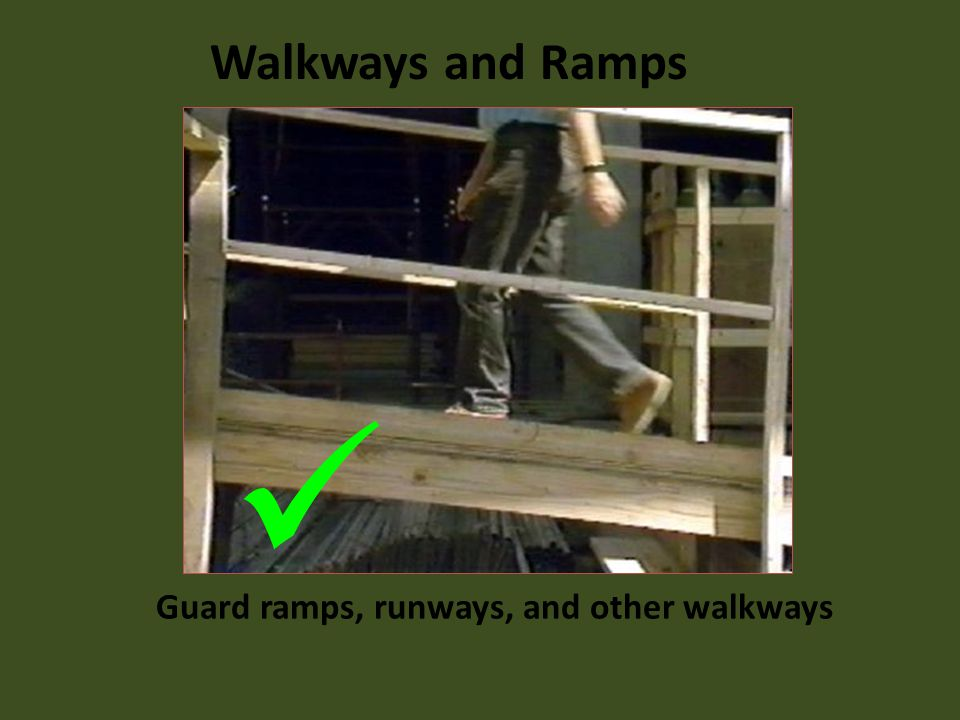 Guard ramps, runways, and other walkways
