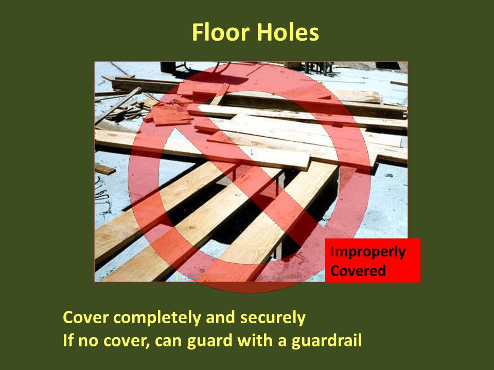 Floor Holes Cover completely and securely