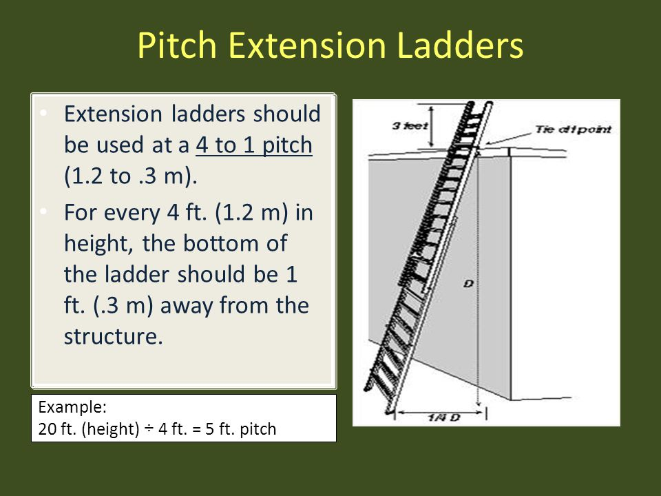 Pitch Extension Ladders