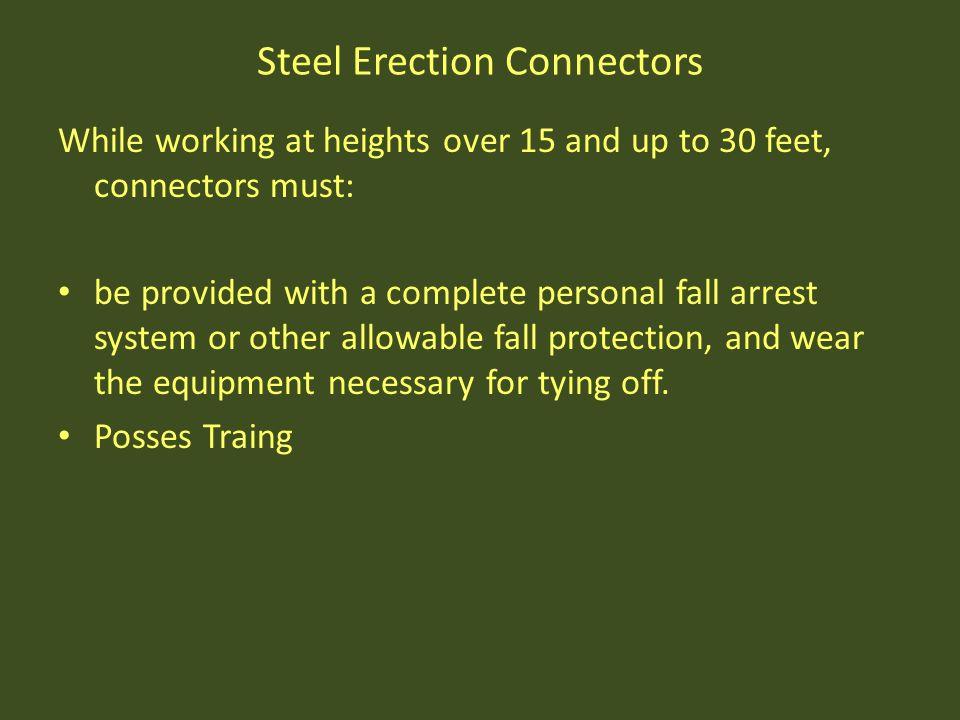 Steel Erection Connectors