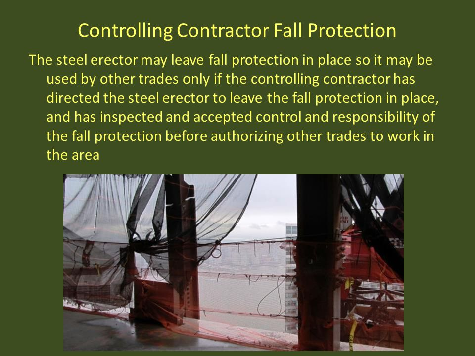 Controlling Contractor Fall Protection