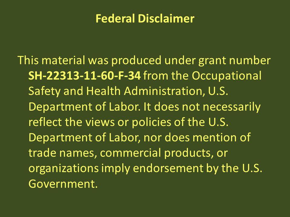 Federal Disclaimer