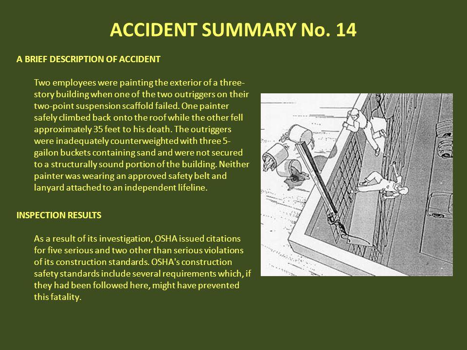 ACCIDENT SUMMARY No. 14