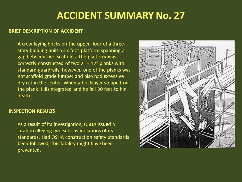 ACCIDENT SUMMARY No. 27