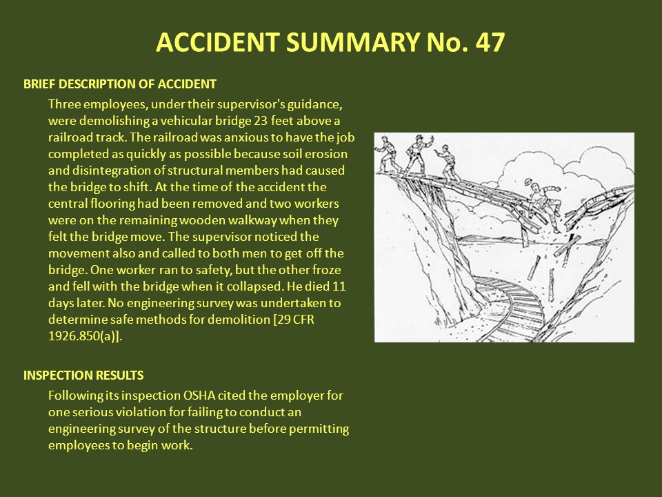 ACCIDENT SUMMARY No. 47