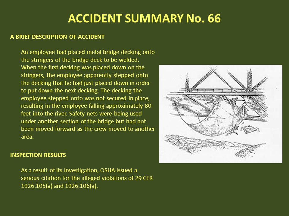 ACCIDENT SUMMARY No. 66