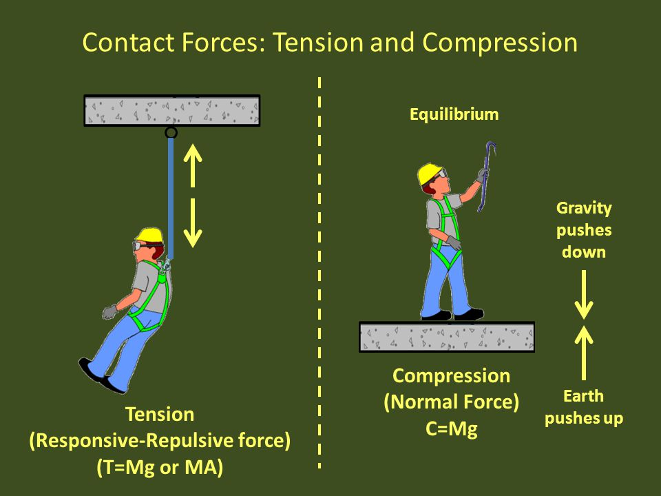 Contact Forces: Tension and Compression
