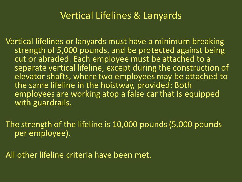 Vertical Lifelines & Lanyards