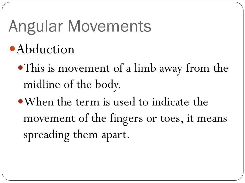 Angular Movements Abduction