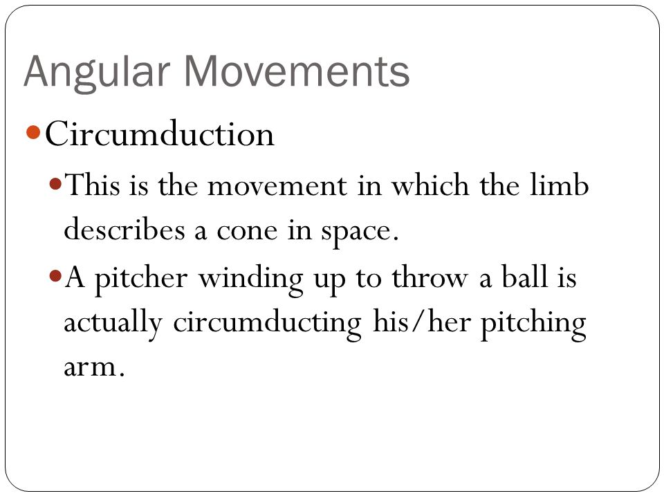 Angular Movements Circumduction