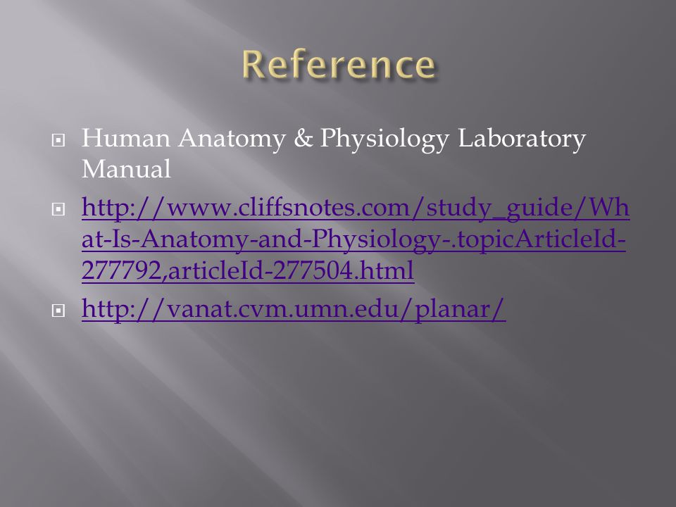 Reference Human Anatomy & Physiology Laboratory Manual