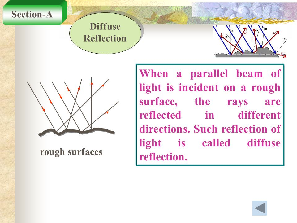 Section-A Diffuse Reflection.