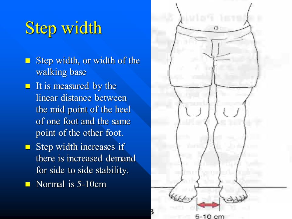 Step width Step width, or width of the walking base