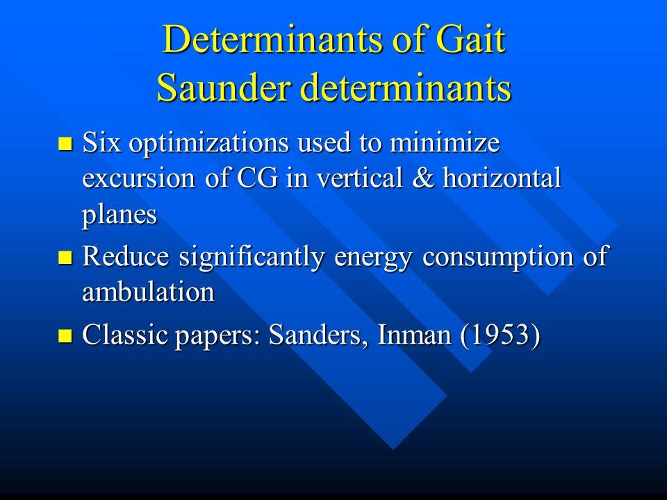 Determinants of Gait Saunder determinants