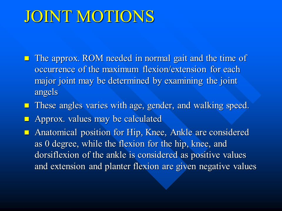 JOINT MOTIONS